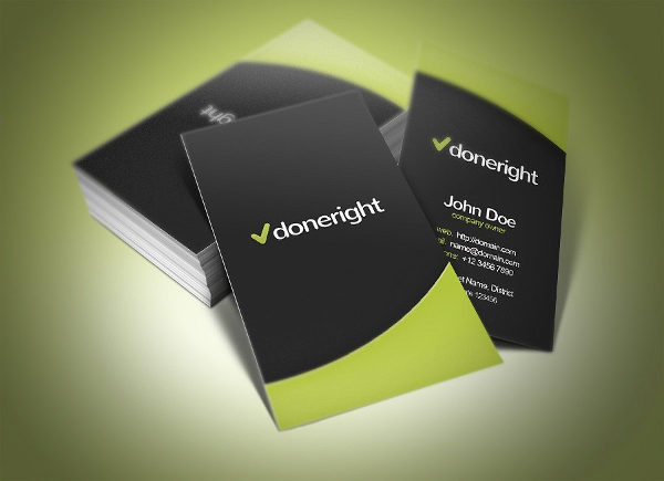 Done Right Business Card Design