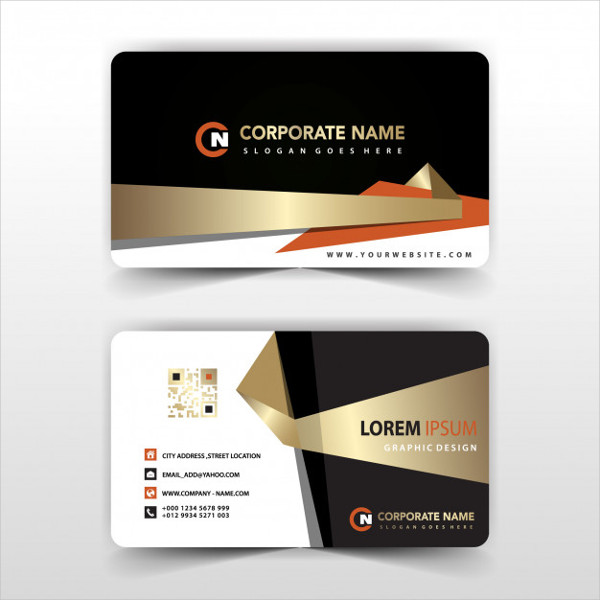 Elegant Visit Card Illustration Free Vector