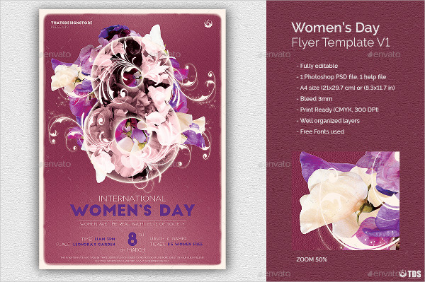 Elegant Womens Day Flyer Template