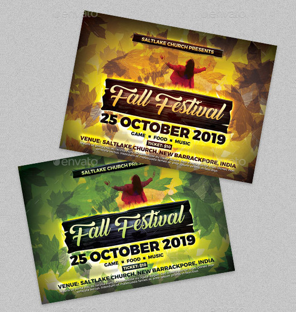 Fall Festival Church Flyer Template