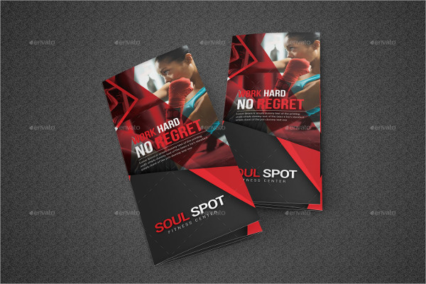 Fitness Trifold Brochure Template