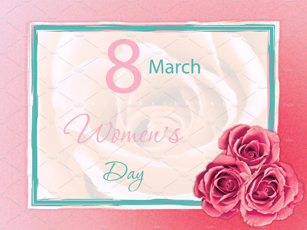 Floral Women's Day Card Template