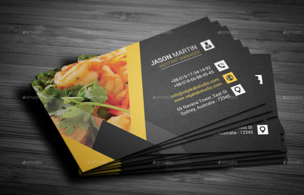 Restaurant business cards templates free mandegarfo restaurant business cards templates free accmission Gallery