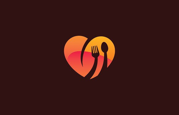 Awesome Food Love Logo Design