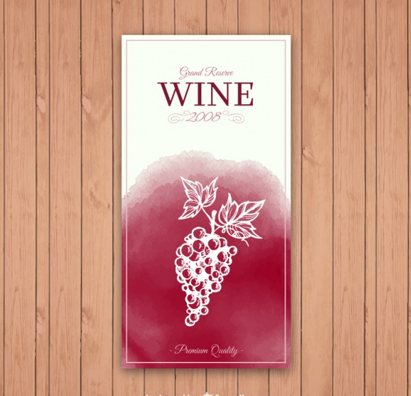 Free Grand Reserve Wine Label Template