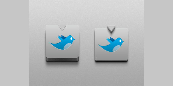 Free PSD Realistic Twitter Buttons