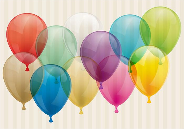 Free Transparent Balloons Background