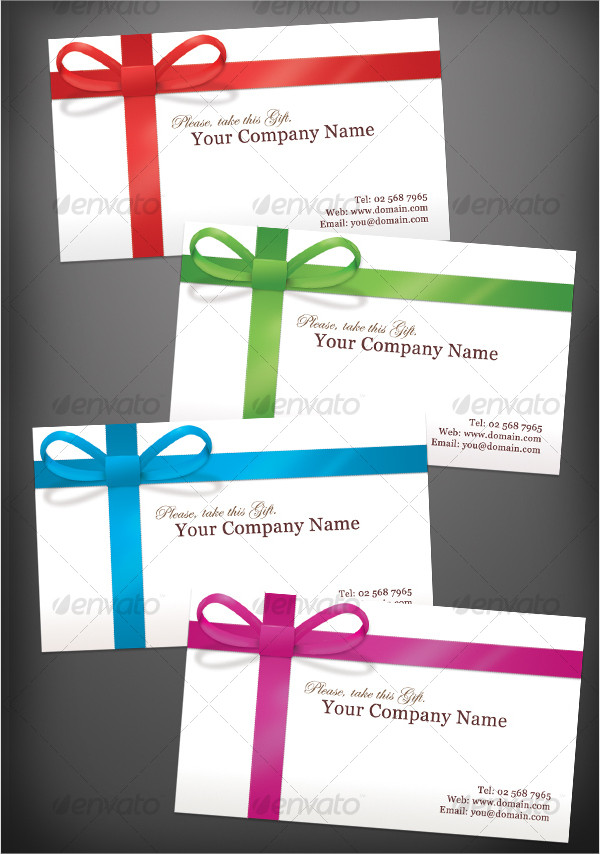 Clean Gift Wrapped Business Cards