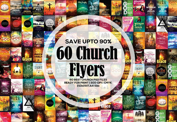 Glorious God Church Flyers Bundle