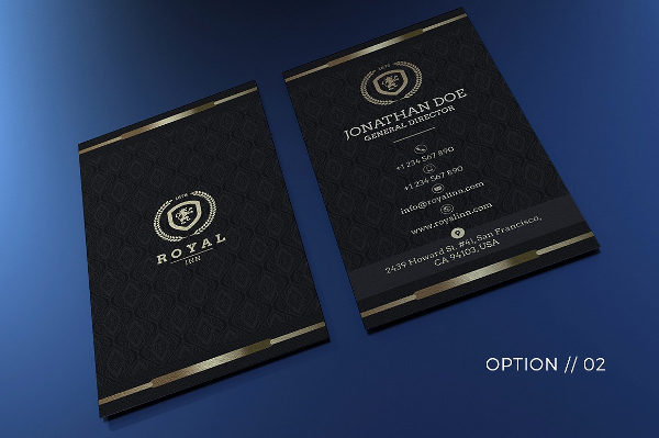 Gold & Black Business Card Template