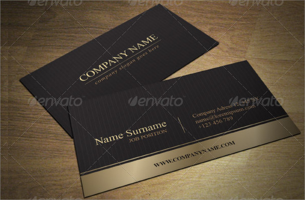 Gold Elegant Business Card Template