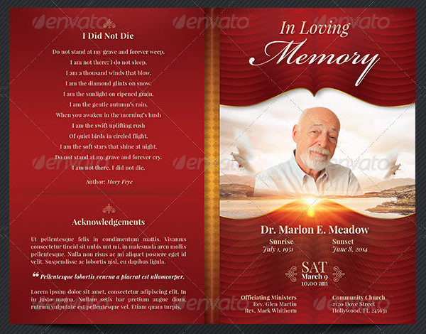 25 Funeral Program Templates Free PSD AI EPS Format Download – Template Funeral Program