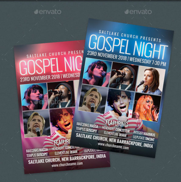 Gospel Night Church Flyer Template