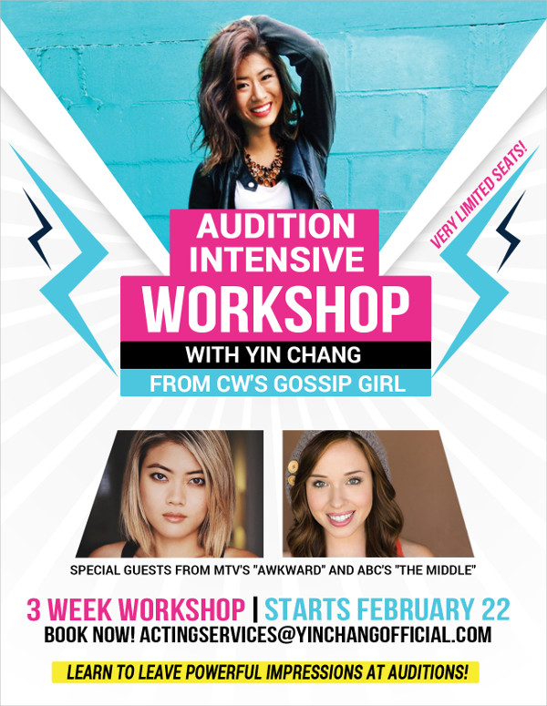Flyer Design Template for an Audition