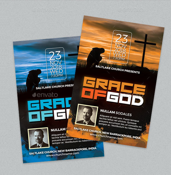 Grace Of God Church Flyer Template