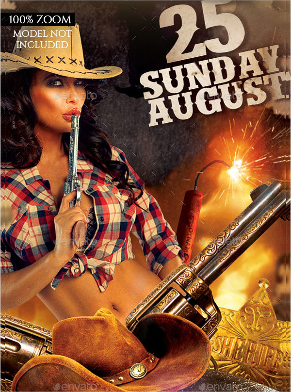 Western Club Party Flyer Template