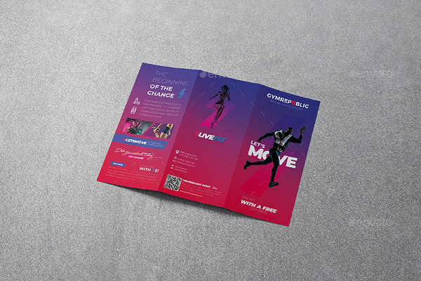Gym Trifold Brochure Templates