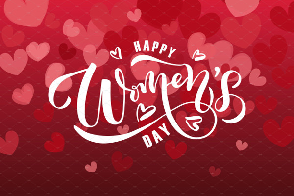 Happy Women's Day Card Template