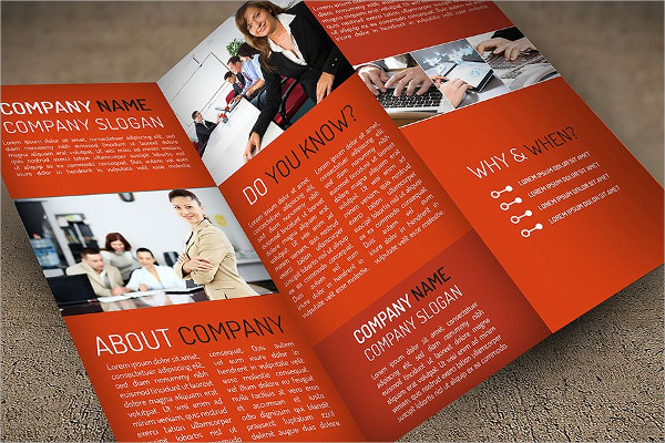 InDesign Trifold Brochure for Company