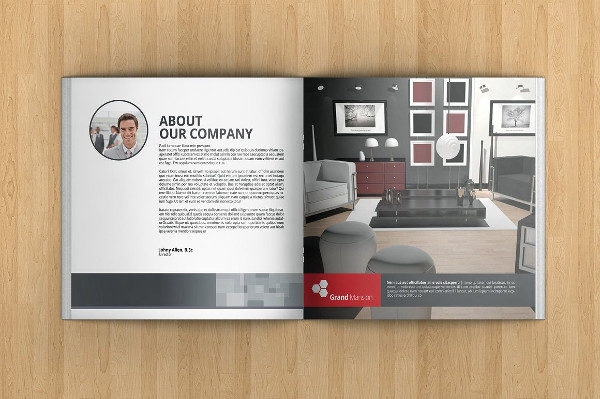 26 square brochure templates free premium download for Interior design brochure