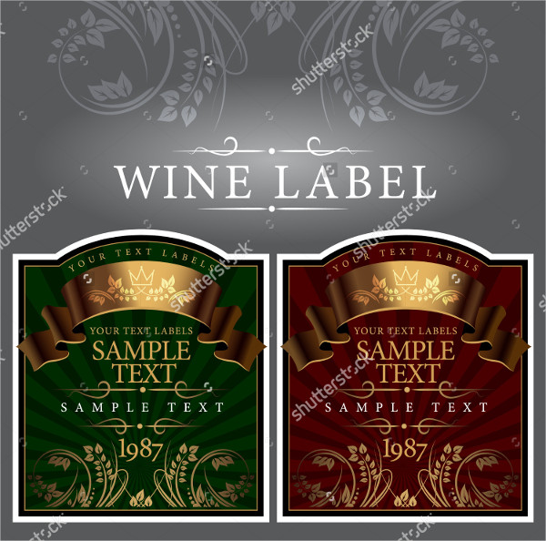 Gold Wine Label Templates
