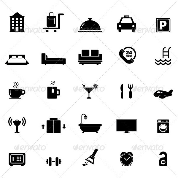 Fully Editable Hotel Icon Set for Your Design