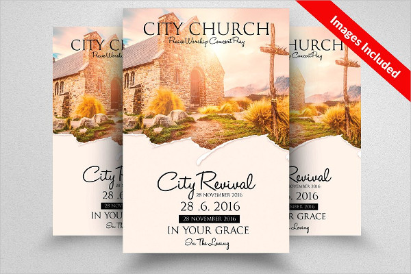 Jesus Church Prayer Flyer Template