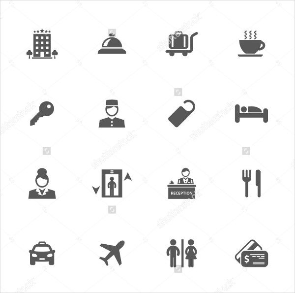Perfect Hotel Service Icons Vector