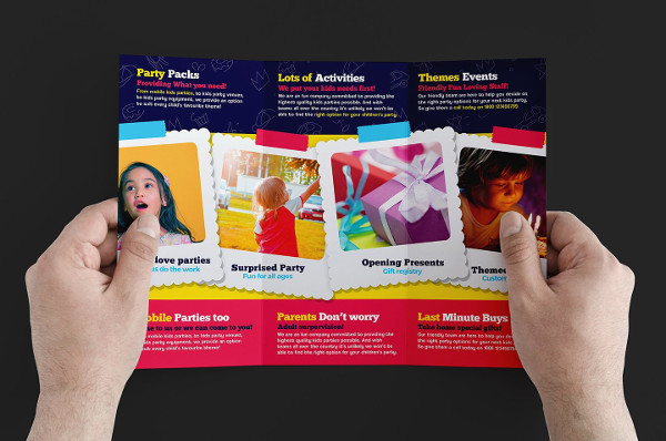 Kids Party Brochure Template