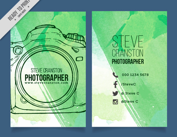 Hand drawn photographer brochure Free