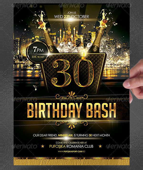 Luxury Birthday Bash Poster Template
