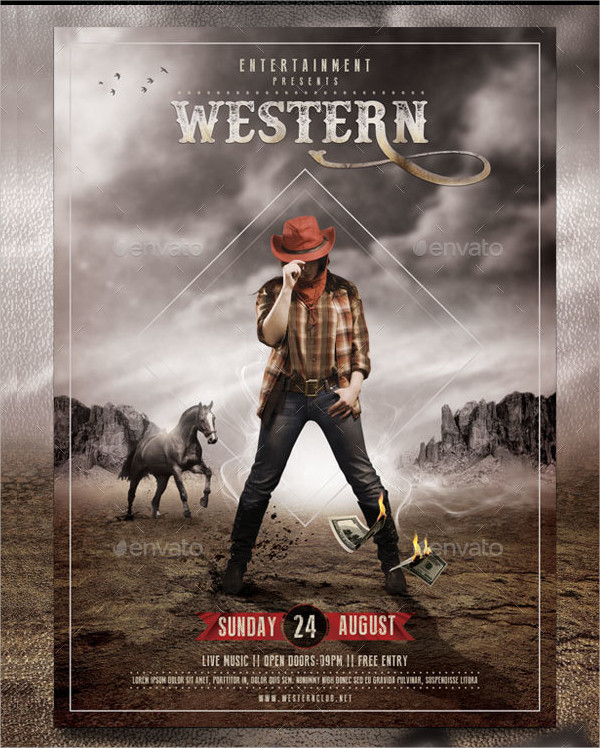 Clean Western Event Flyer Template