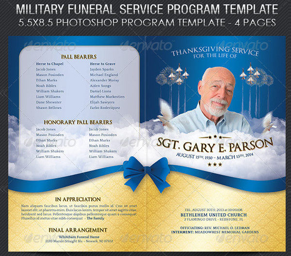 Funeral Program Templates  Psd Ai Eps Vector Format Download