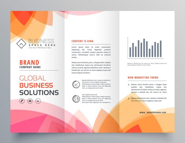 Modern Brochure with Warm Colors Free