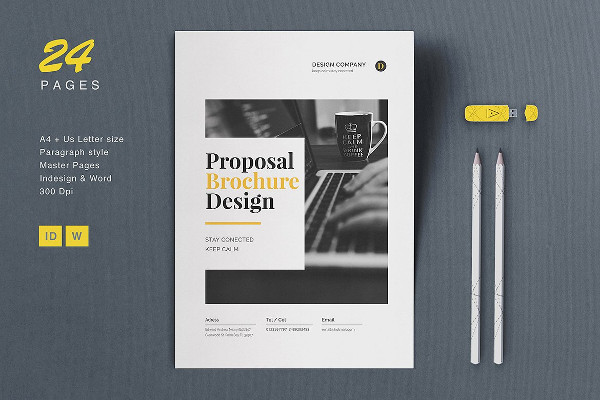 Modern Proposal Brochure Template Design