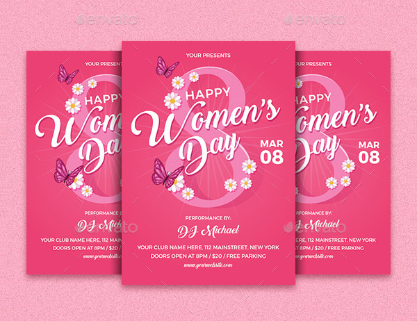 Modern Women's Day Event Flyer Template