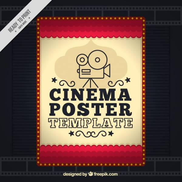 Free Movie Poster in Vintage Style