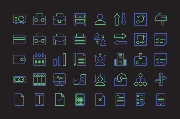 Nightlife Business Icon Set