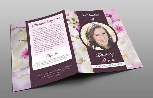 25+ Funeral Program Templates - Free PSD, AI, EPS Format Download