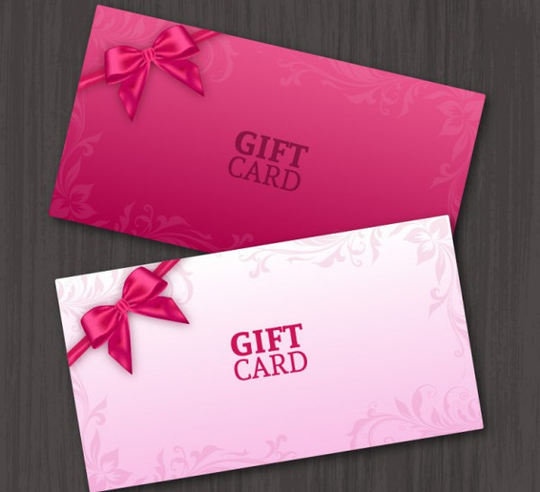 Pair of Gift Cards Free Vector