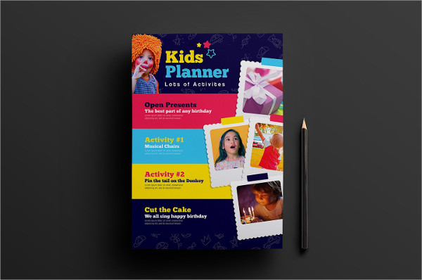 Kids Birthday Poster Template