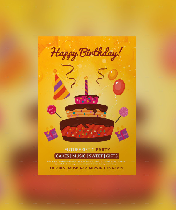 Perfect Birthday Poster Template