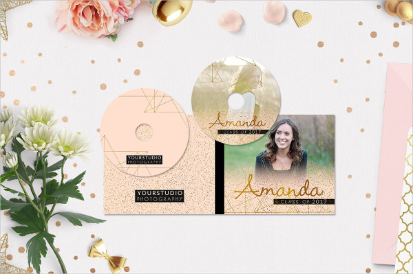 CD Label Template in Pink Shades