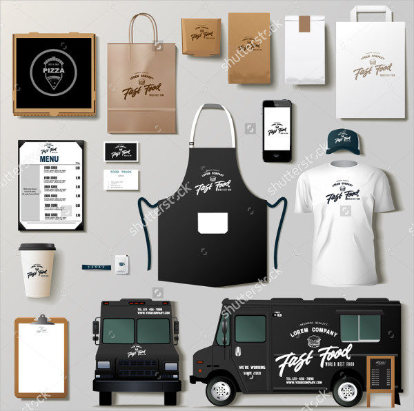 Vector Food Truck Corporate Identity Template Design