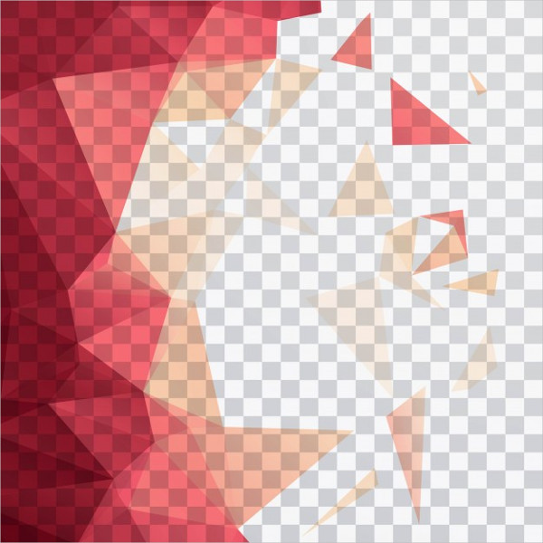 Polygonal Shapes on a Transparent Background Free