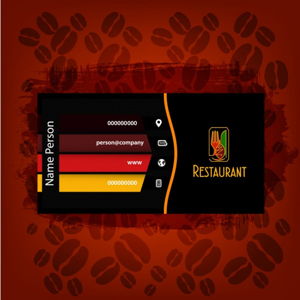 25 restaurant business card templates free premium download restaurant business cards templates free fbccfo Image collections