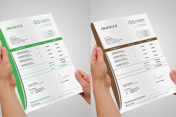 Professional Invoice Template of Business
