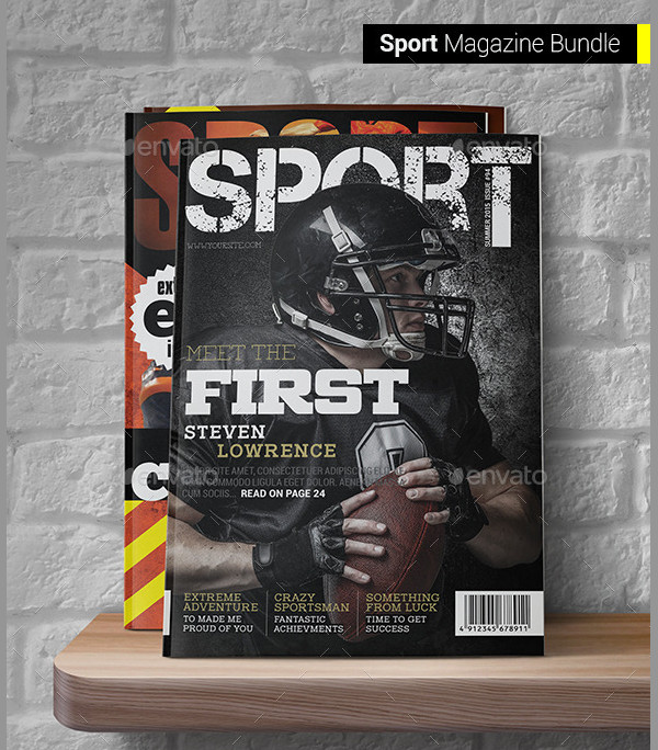 Professional Sports Magazine Templates Bundle