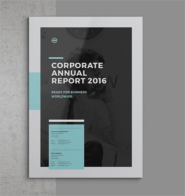 Ready for Print Business Annual Report Template