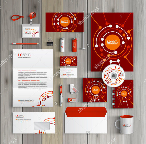Red Corporate Branding Identity Design